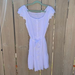 Old Navy lace button down dress with slip